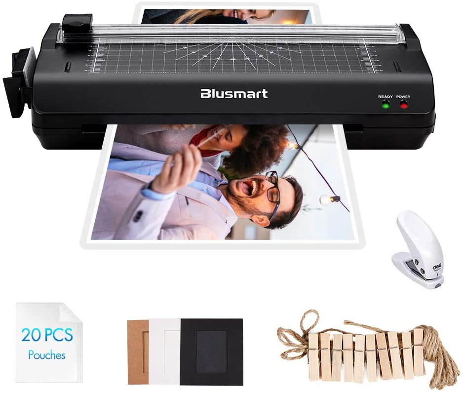 5 in 1 Blusmart Deluxe Laminator Set, A4, Trimmer, Corner Rounder, 20 Laminating Pouches, Photo Frames, Black uk reviews