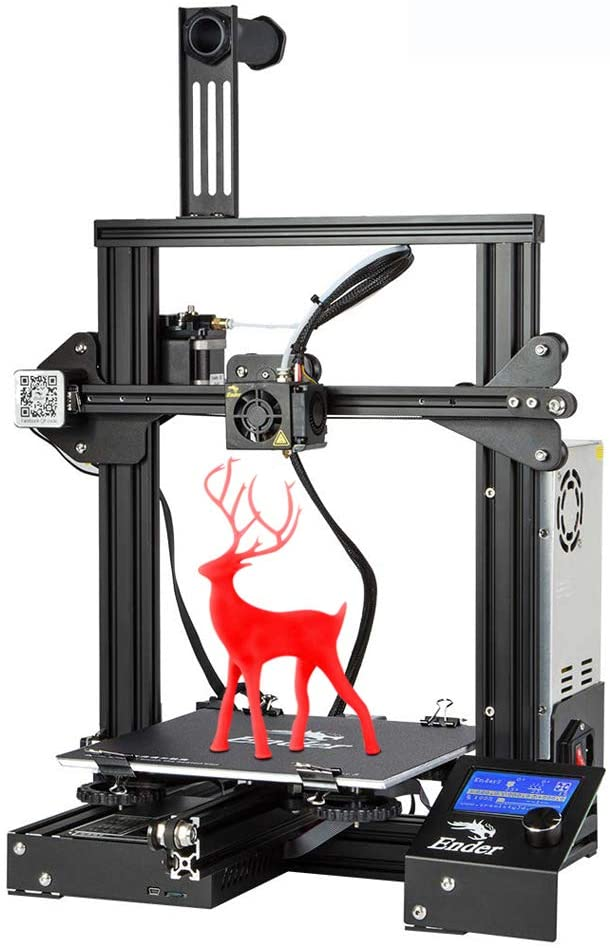 3D Printer Ender 3, Creality Store Newest Version of Ender 3 with removeable Fiberglass Building Plate and Resume Printing uk reviews