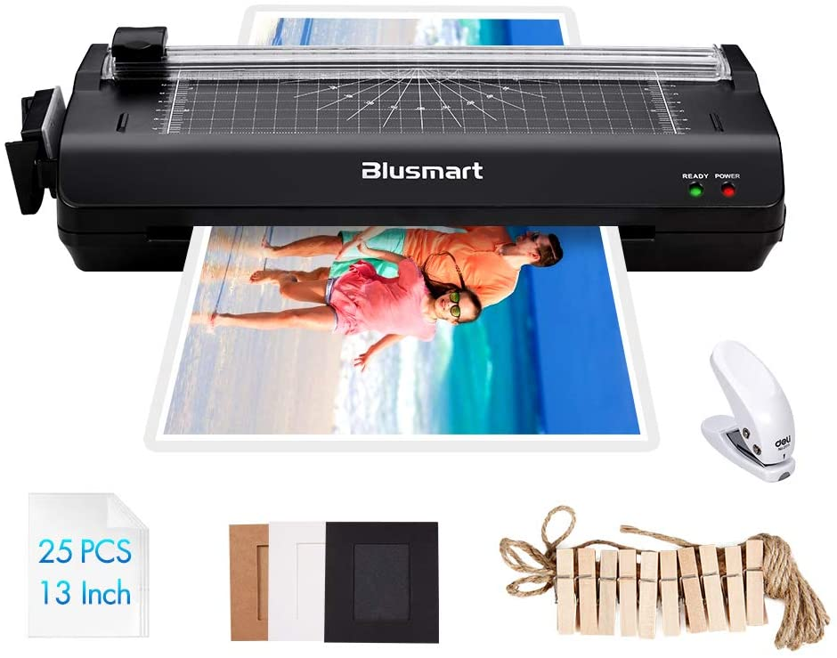 Blusmart A3 Best Laminators with 25 Laminating Pouches, Paper Cutter, Corner Rounder Laminate for A3, A4, A6 uk reviews