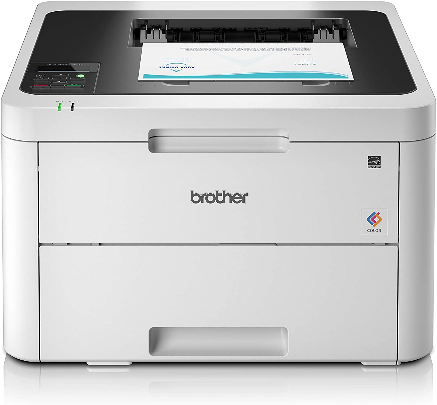 Brother HL-L3230CDW Colour Laser Printer - Single Function, Wireless, USB 2.0, 2 Sided Printing, A4 Best Color Laser Printer, Small Office, Home Office Printer