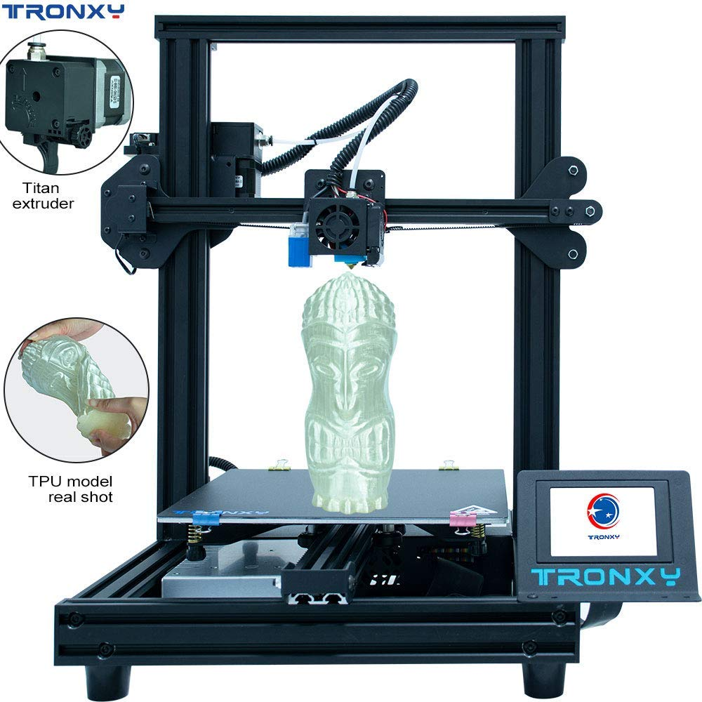 TRONXY New Upgraded Ultra Silent Motherboard + Titan Extruder3D Printer XY-2 Pro Black Fast Assembly Installation with Resume Printing Function for Beginner and Home User uk reviews