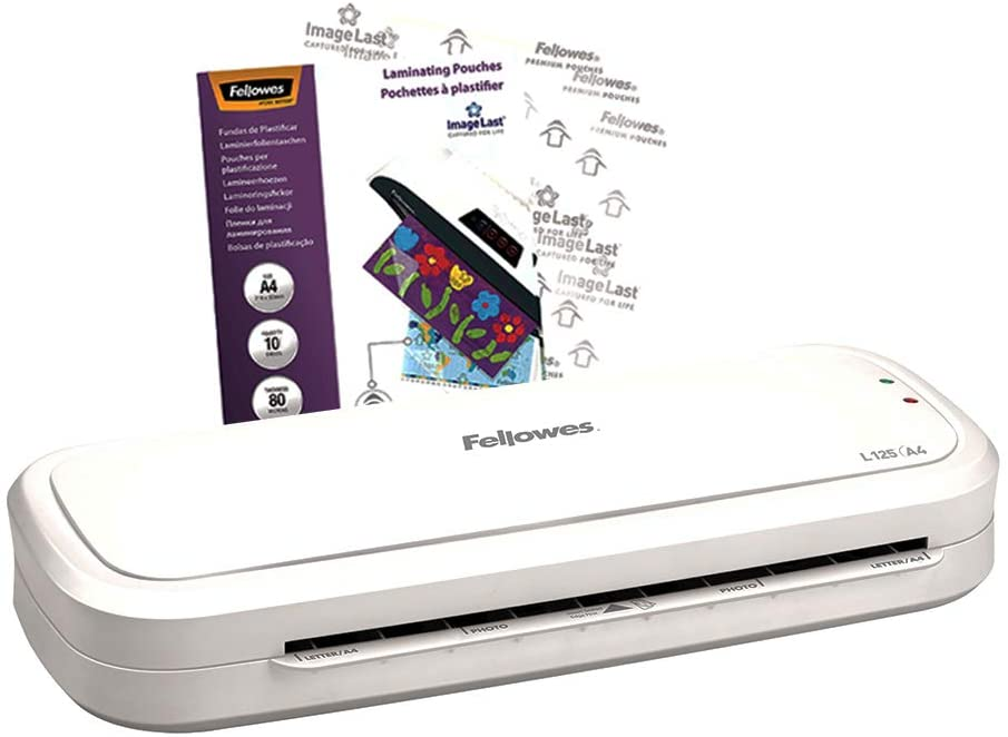 Fellowes L125 A4 Home Laminator, 80-125 Micron, including 10 free pouches uk reviews