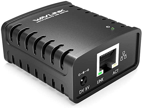 WAVLINK USB 2.0 Networking Print Server Ethernet Print Server Adapter LPR 1-Port MFT Print With 10-100Mbps LAN Ethernet uk reviews