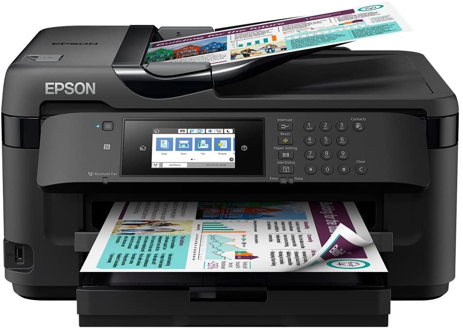 Epson WorkForce WF-7710DWF Print Scan Copy Fax A3 Wi-Fi Printer, Amazon Dash Replenishment Ready, Black uk reviews