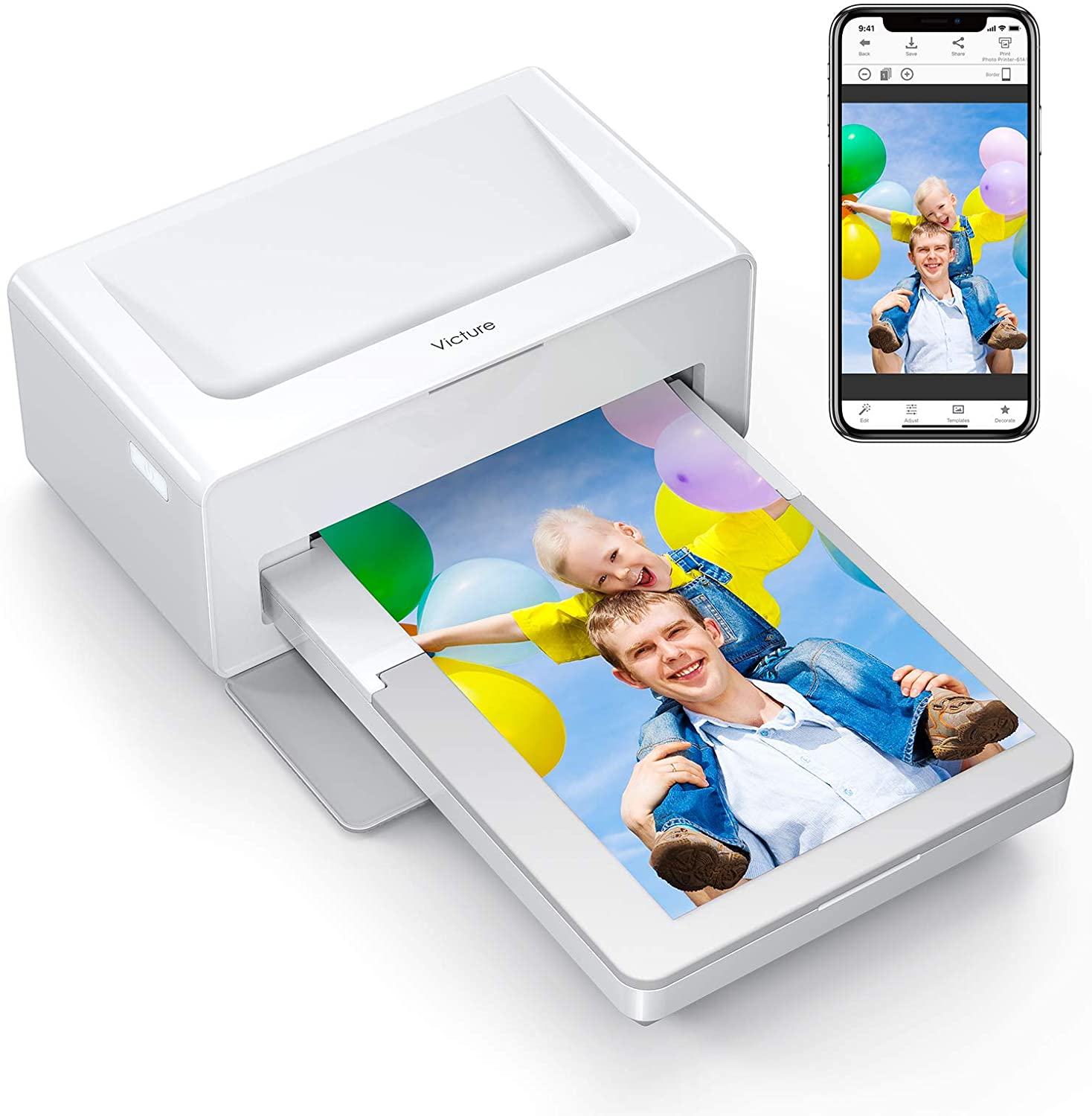 Victure Photo Printer, Instant Photo Printer Compatible with iOS & Android Devices uk reviews