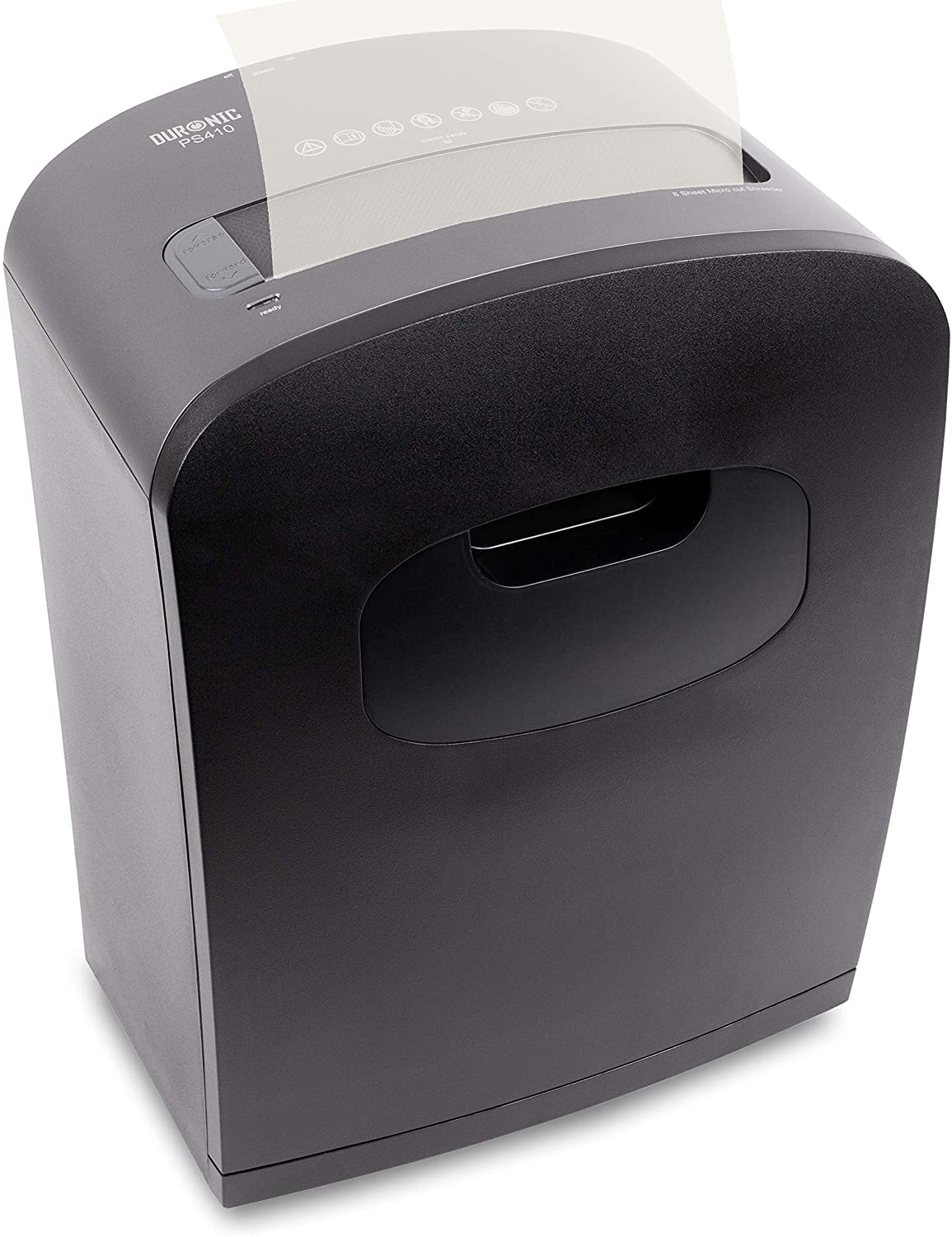 Duronic Paper Shredder PS410 6-8 A4 Sheets at a Time Micro Cut Electric Shredder 14 Litre Bin Thermal Overload Protection for Home or Office uk reviews