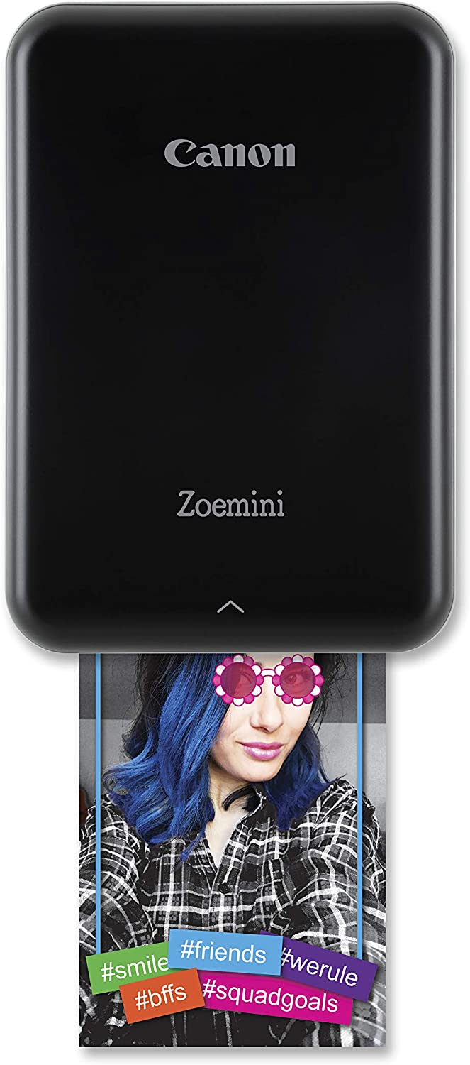 """Canon Zoemini smartphone photo printer (Black) – Get instant 2x3"""" sticky-backed photos from your iOS or Android device. Ink free with ZINK technology uk reviews"""