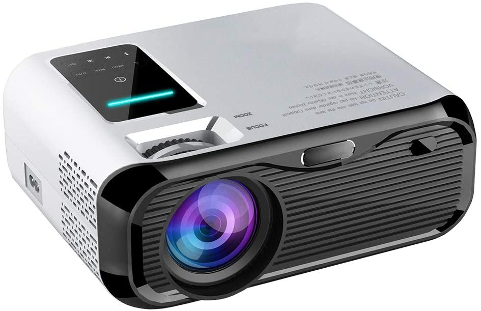 Projector PTVwire Mini Projector LED Video Projector Portable Projector Mini Home Cinema 50000 Hours LED Life uk reviews