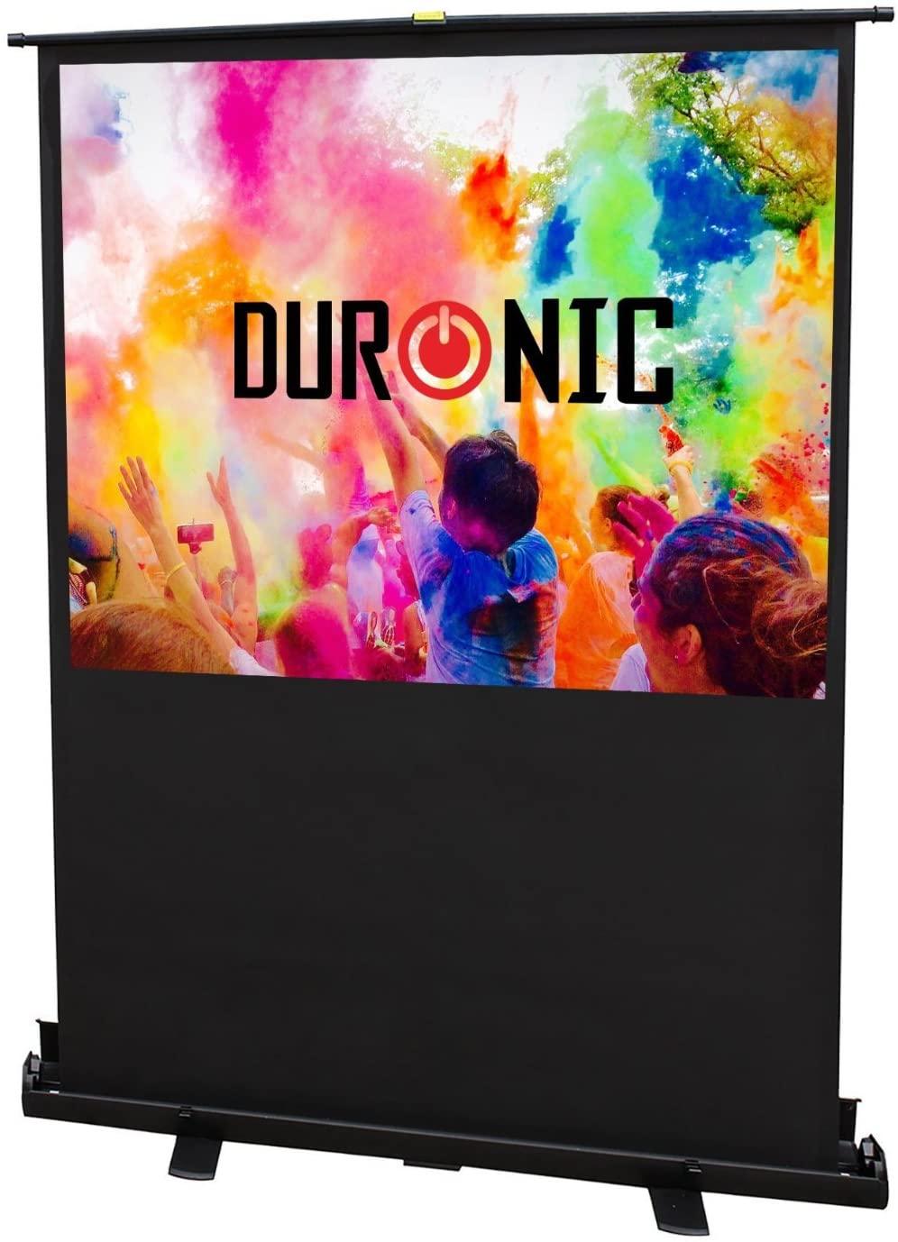 Duronic Projector Screen FPS100-43 - 100 inch Floor Projection Screen School Theatre Cinema Home Projector Screen Portable Freestanding uk reviews