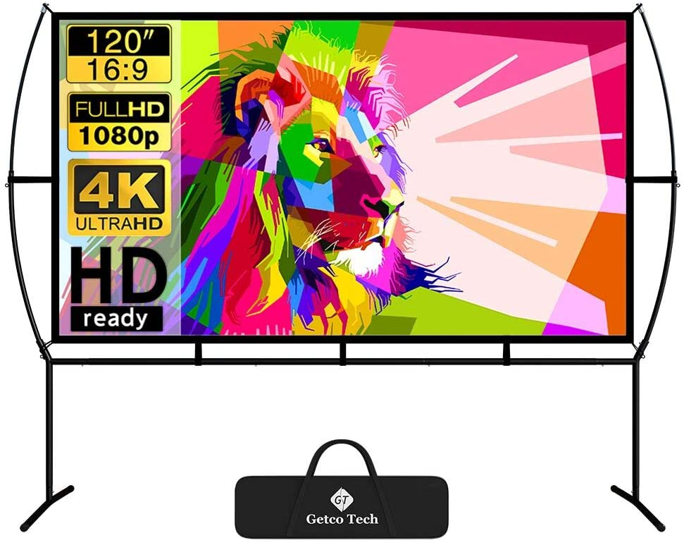 Screen Home Cinema 266X150Cm Mobile Projector Screen Easy Installation And Operation Suitable For Home Cinema And Outdoor Projection Screen uk reviews