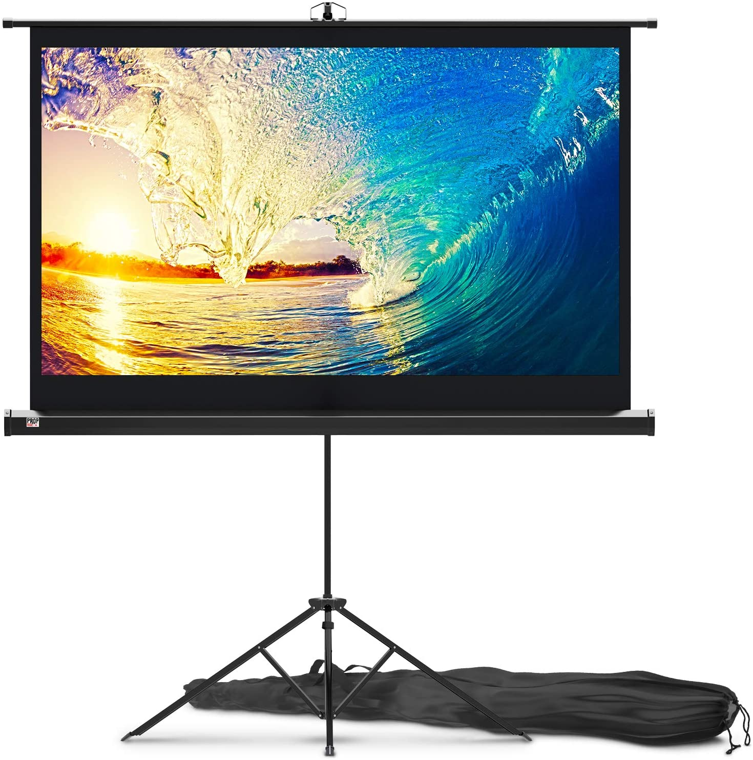 PropVue Projector Screen with Stand 60 inch Indoor and Outdoor Projection Screen for Movie or Office Presentation HD Premium Wrinkle-Free Tripod Screen uk reviews