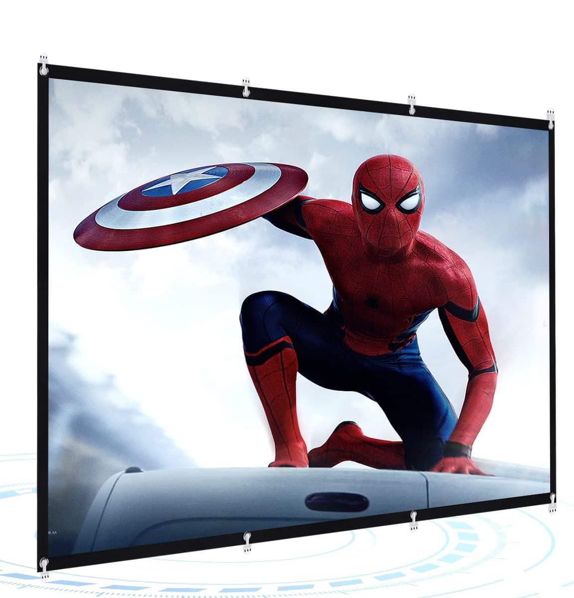 Powerextra 16-9 HD 4K Foldable Anti-Crease Portable Projector Screen uk reviews
