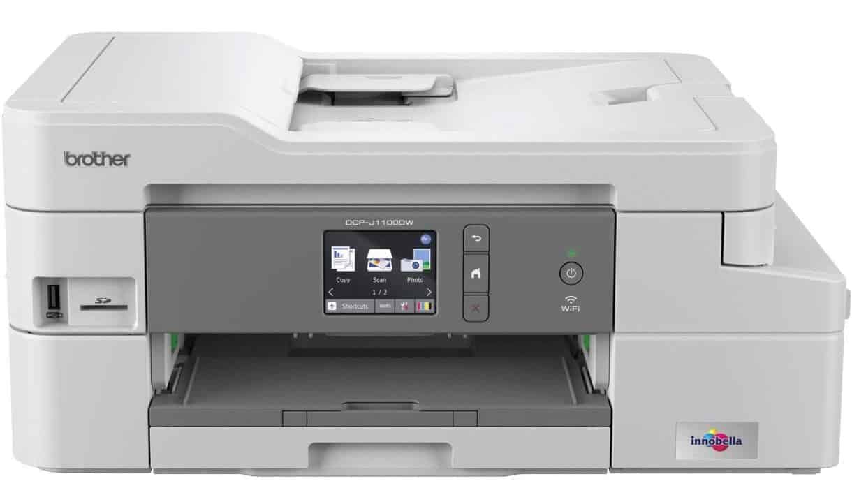 Brother DCP-J1100DW 'All in Box Bundle' Colour Inkjet Printer All-in-One, Wireless USB 2.0, Printer Scanner Copier uk reviews