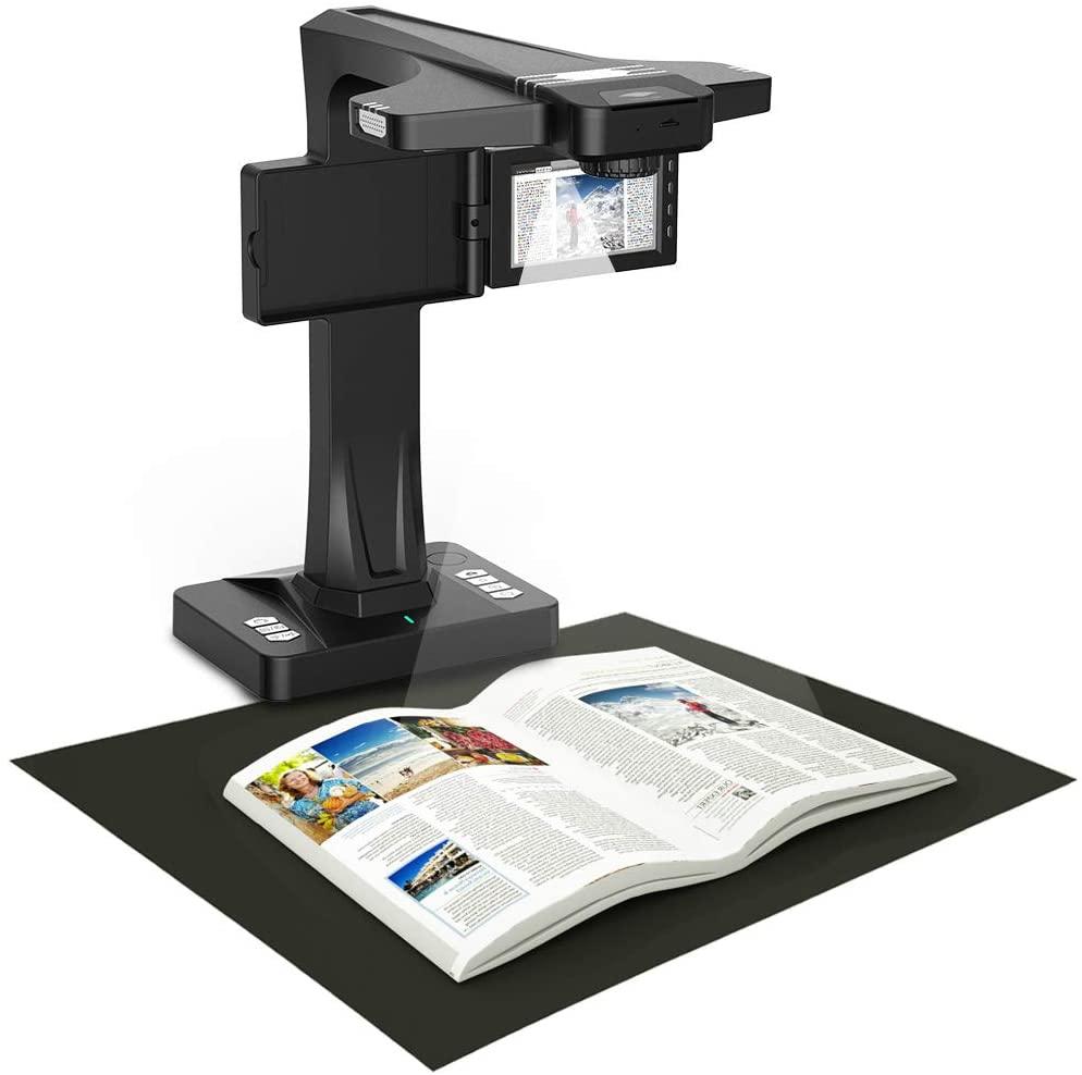eloam Portable Document Scanner, 5-inch Screen, Support Offline Scan, Auto Flatten, Split