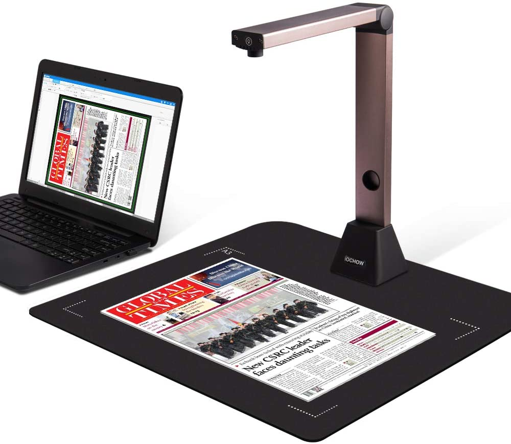 iOCHOW Document Camera S1, High Definition Portable Scanner Stand for Teaching